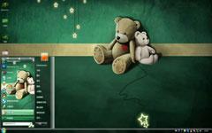 线偶小熊win7系统主题
