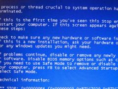 """电脑重启后出现蓝屏提示""""beginning dump of physical memory""""怎么办?"""