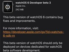 蘋果推送watchOS 6 Beta 3開發者預覽版