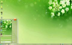 绿梦绿花清爽背景桌面主题