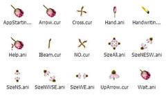 玫瑰花瓣鼠标指针