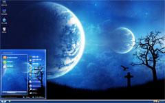 月圆之夜xp桌面主题