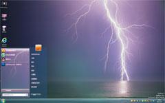 紫色闪电win7系统主题