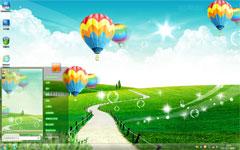 热气球浪漫之旅win7高清壁纸