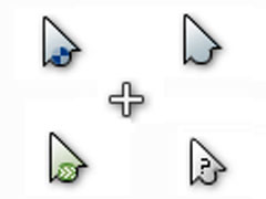 简洁动态鼠标指针