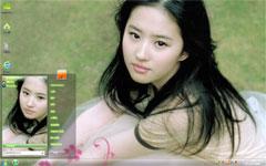 清新美女刘亦菲win7桌面主题