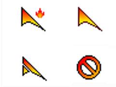炫亮火焰鼠標指針