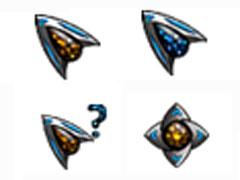 炫藍戰斗機鼠標指針