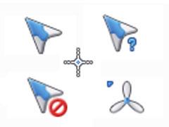 藍白紙飛機鼠標指針