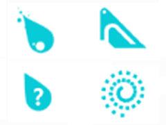 墨藍水滴鼠標指針