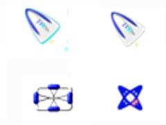紫色飛行器鼠標指針