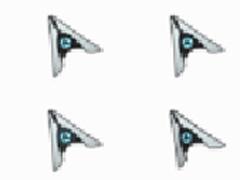 個性紙飛機鼠標指針
