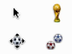 世界足球杯鼠標指針
