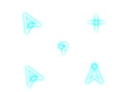 個性熒光藍鼠標指針