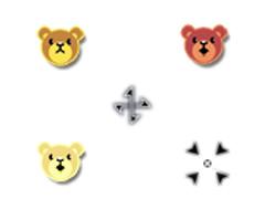 可愛小熊鼠標指針