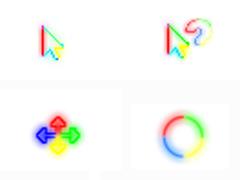 多彩荧光鼠标指针