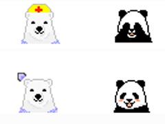 搞怪熊貓鼠標指針