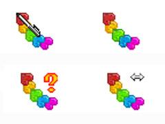 彩色串串心鼠标指针