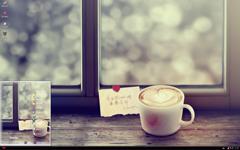 爱心美味咖啡xp主题