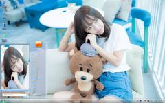 美女与玩具熊Win7主题