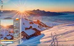 暖心的阳光与清新的雪景相伴Win7主题