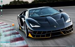 黑色炫酷的兰博基尼跑车Win7主题