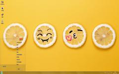 清新可爱的柠檬Win7主题