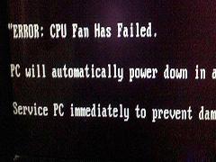 """电脑重启后出现""""ERROR:cpu fan has failed""""的解决办法"""