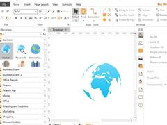 Edraw Max亿图图示如何添加全球化标志logo?