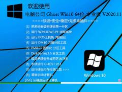 电脑公司 WINDOWS10 64位专业版 V2020.11