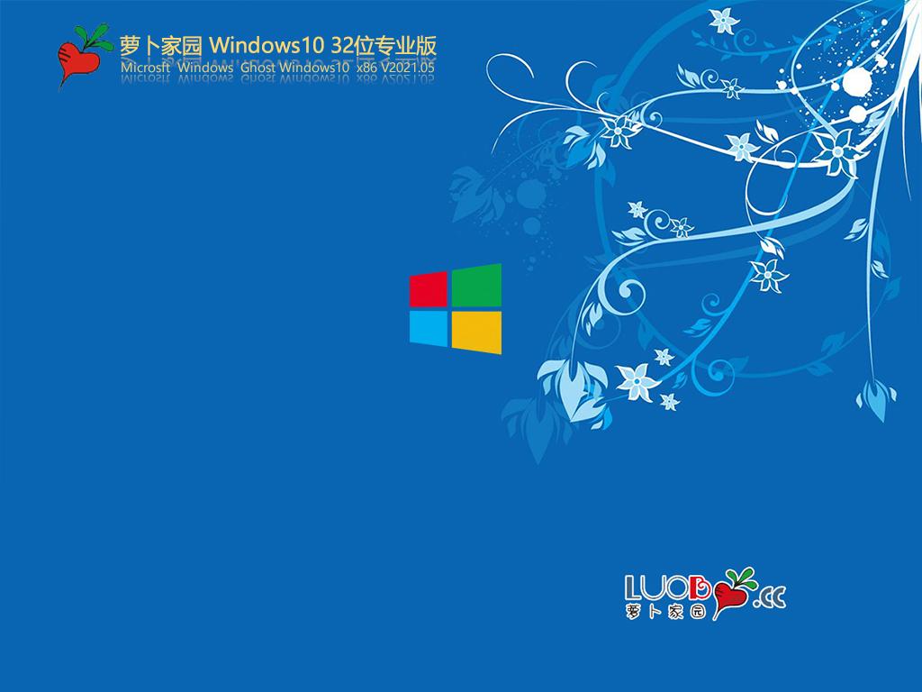 萝卜家园Win10 32位专业版 V2021.05