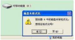 U盘一打开就提示让格式化怎么修复?